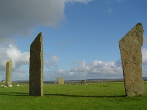 Standing stones on Orkney Island