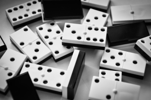 scattered dominoes